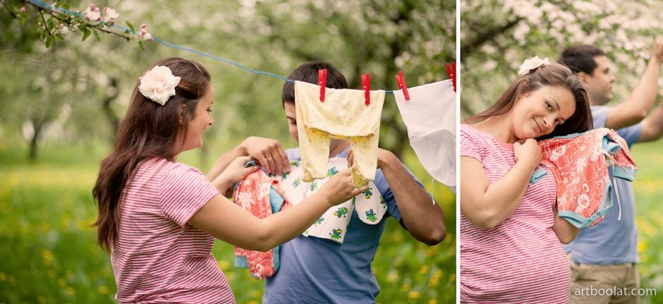 Беременная фотосессия на природе летом идеи 30
