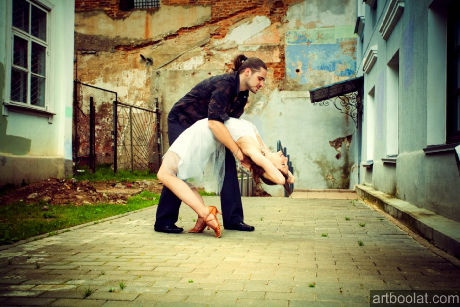фотосъемка танцевального дуэта odeon