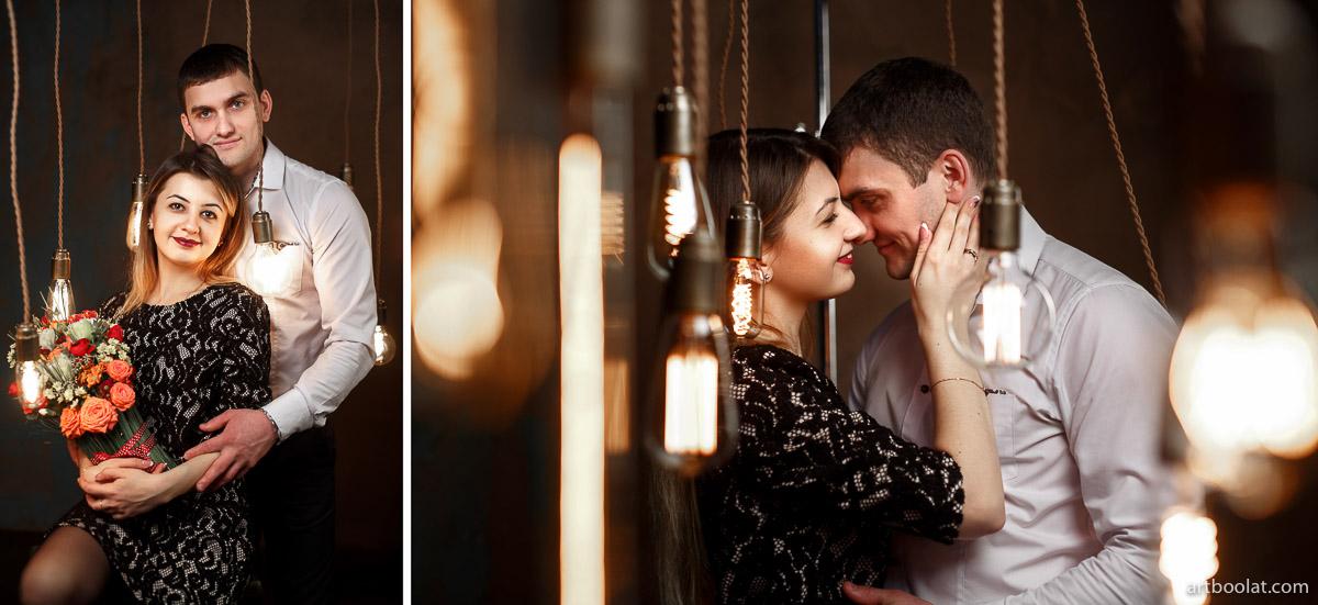 Фотосессия для двоих love story в студии Минск, заказать и смотреть примеры на сайте фотографа Булата Ягудина